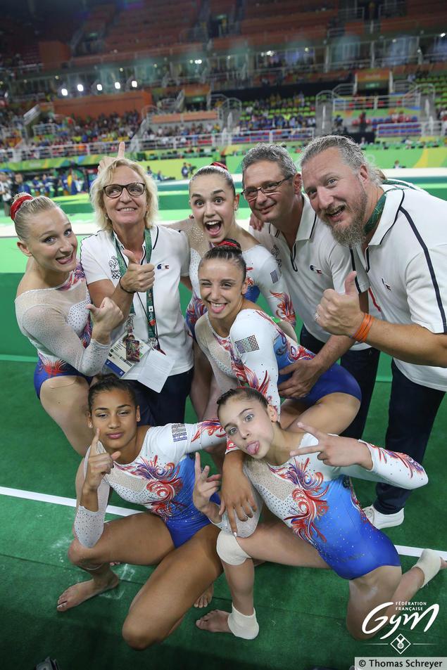 L'équipe de France GAF après les qualifications