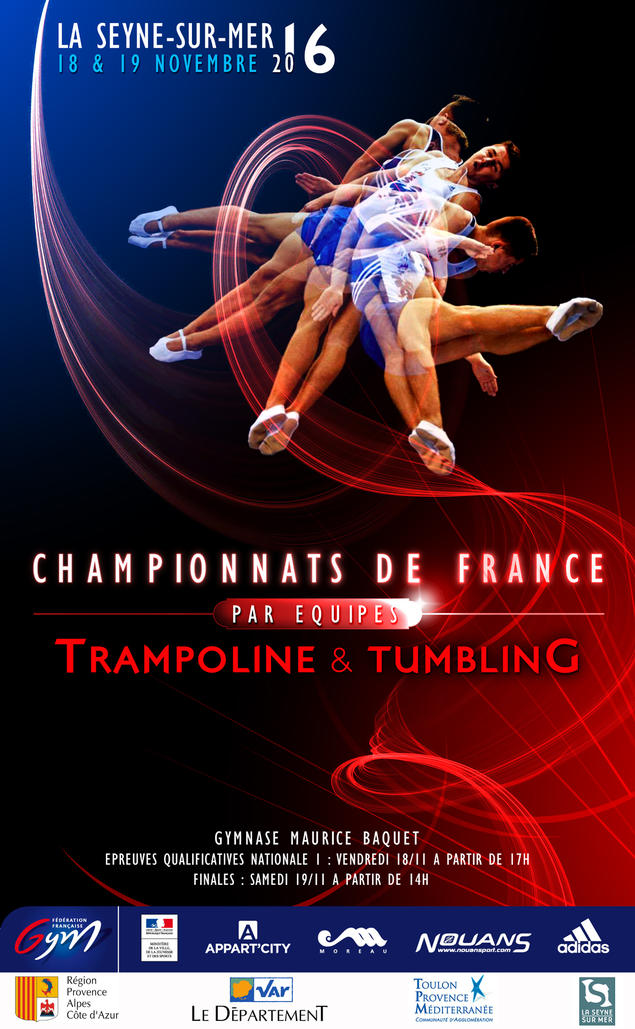 championnats de france par equipes de trampoline et tumbling. Black Bedroom Furniture Sets. Home Design Ideas