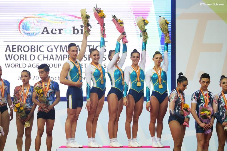 Juin - AERO - le groupe Junior en or aux championnats du monde d'Incheon